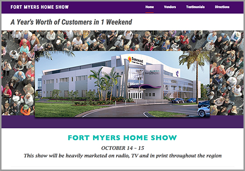 Fort Myers Home Show – Web Site Design