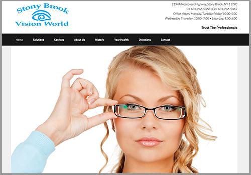 Stony Brook Vision World – Web Site Design